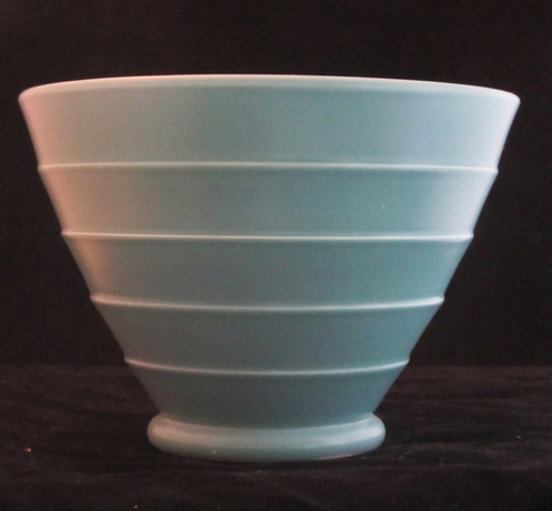 Keith Murray Wedgwood Vase Blue Conical Sold