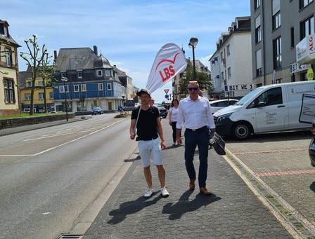 Fotoshooting in Bitburg mit der LBS Südwest