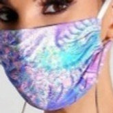 Colorblock Tie-Dye Style Breathable Face Mask