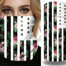 Floral print American Flag Sleeve Style Breathable Mask