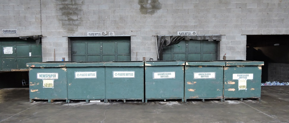 Bins at Wayne County Recycling Center