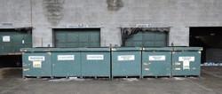 Bins at Wayne County Recycling Center