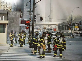 FDNY heading in to the Wold Trade Center on September 11th