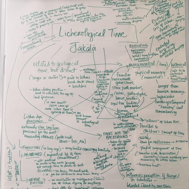 Lichenological Time concept development