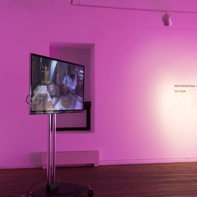 Lab collaboration video, interior displa