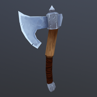 Axe Painting Practice, Model by CG Cookie