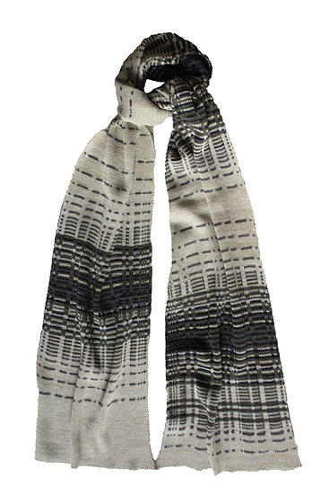 silk and merino reflections scarf | pebble