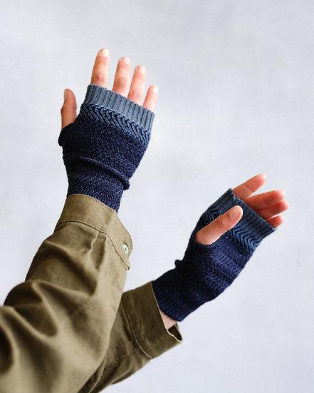 two tone racked hand warmers | blue hues