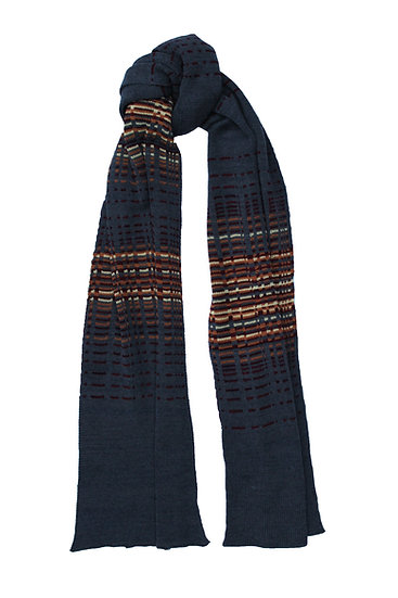 silk and merino reflections scarf   dusk