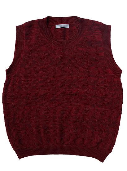 'karrek' zigzag drop-stitch vest | wine