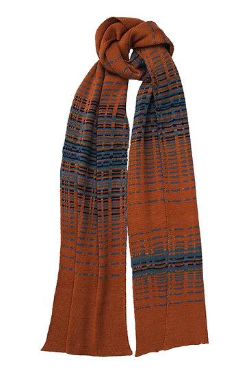 silk and merino reflections scarf | orange