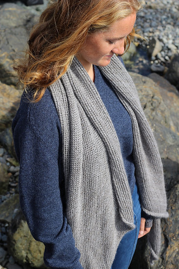 lattice scarf | stone melange