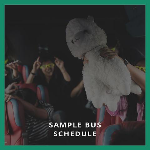 Sample Bus Schedule