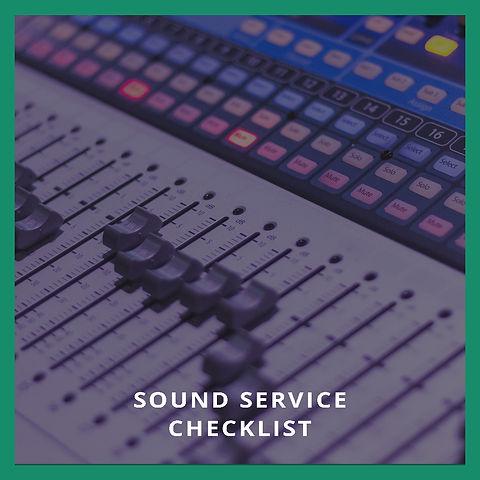 Sound Service Checklist