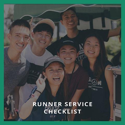 Runner Service Checklist