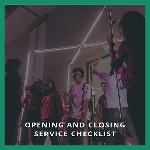 Opening And Closing Service Checklist