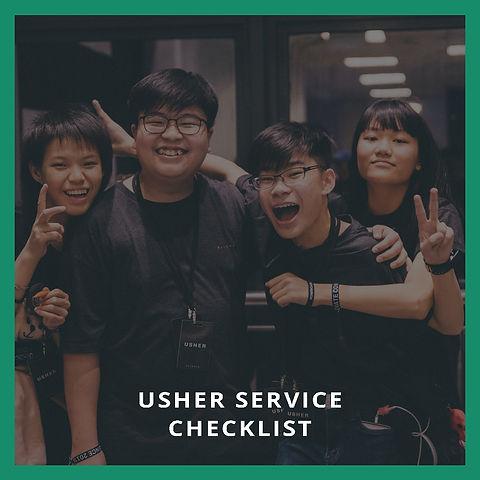 Usher Service Checklist