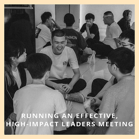 Running An Effective, High-Impact Leaders Meeting