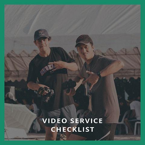 Video Service Checklist