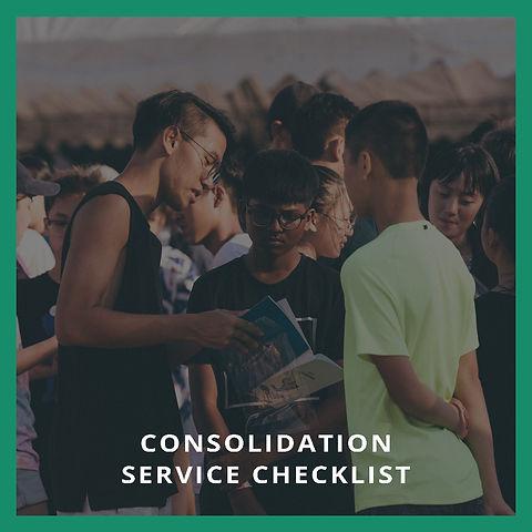 Consolidation Service Checklist