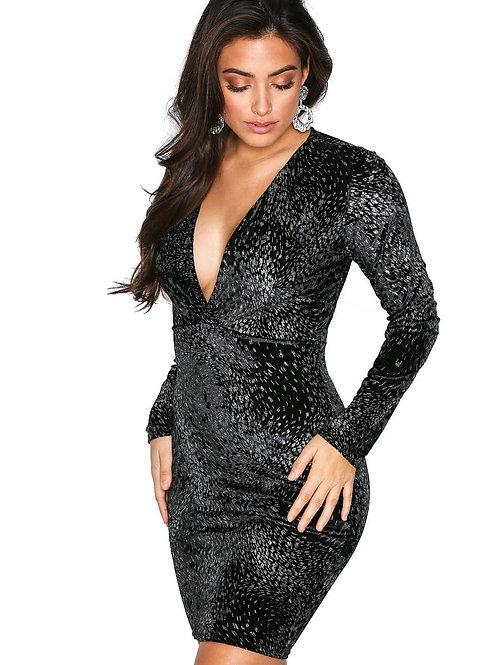 שמלה שחורה דגם: 788