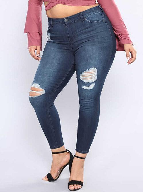 ג'ינס קרעים סקיני: 524