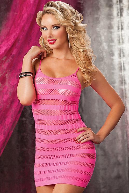 שמלת מיני ורודה