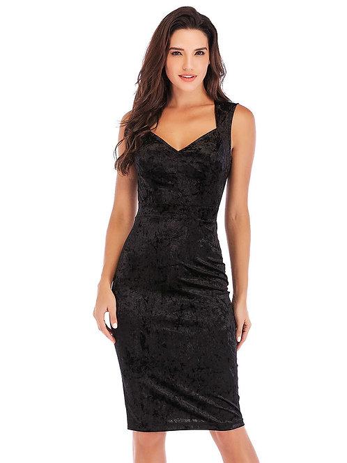 שמלה שחורה דגם: 740
