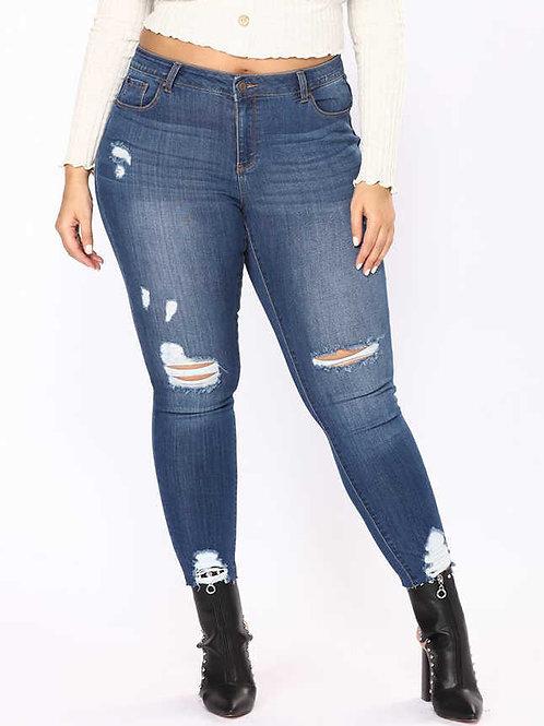 ג'ינס קרעים סקיני: 525