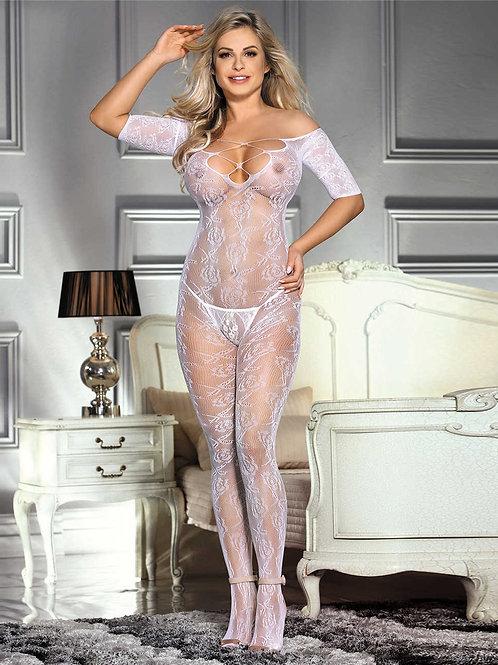 גרביון גוף לבן סקסי דגם: 153