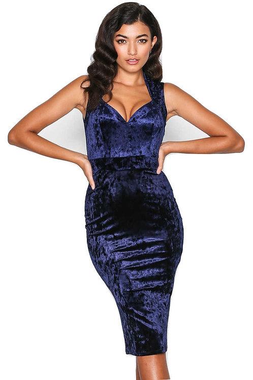 שמלת מידי כחולה דגם: 740