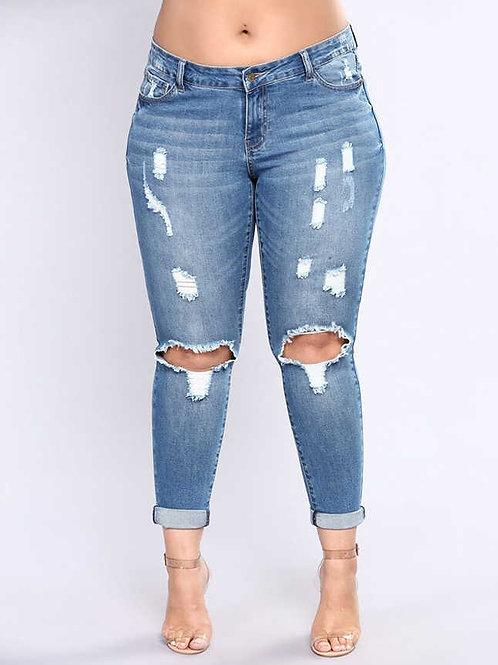 ג'ינס קרעים סקיני: 513