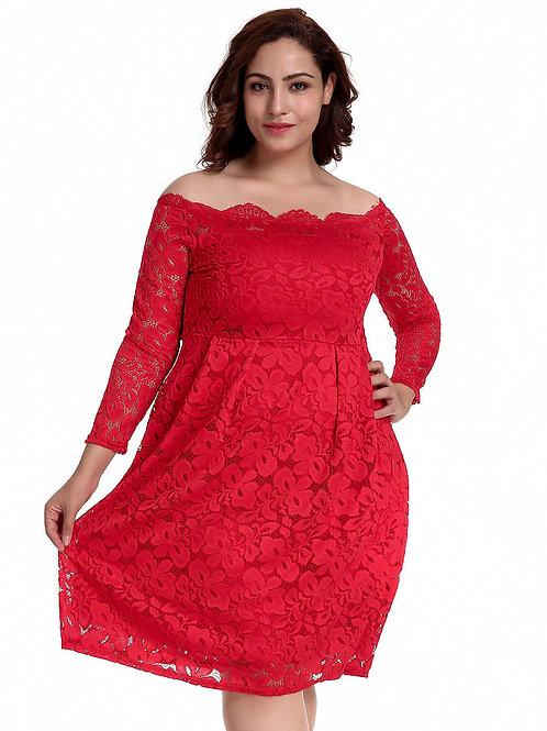 שמלה אדומה דגם: 500