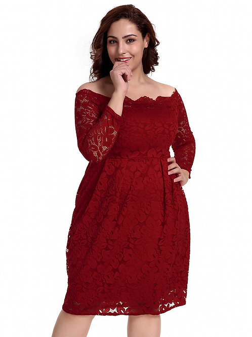 שמלת בורדו דגם: 500