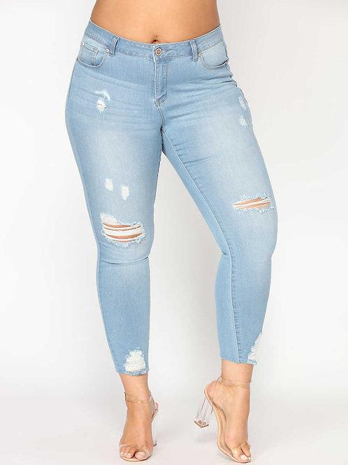 ג'ינס קרעים סקיני: 522
