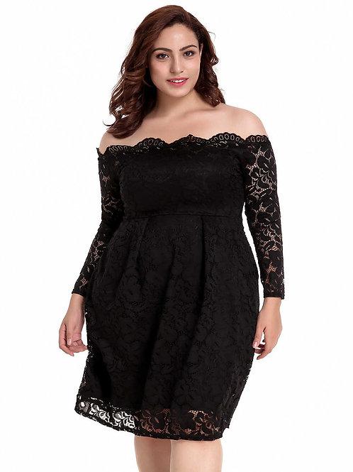 שמלה שחורה דגם: 500