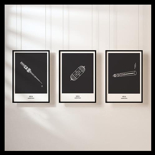 Pécs addiction poster szett