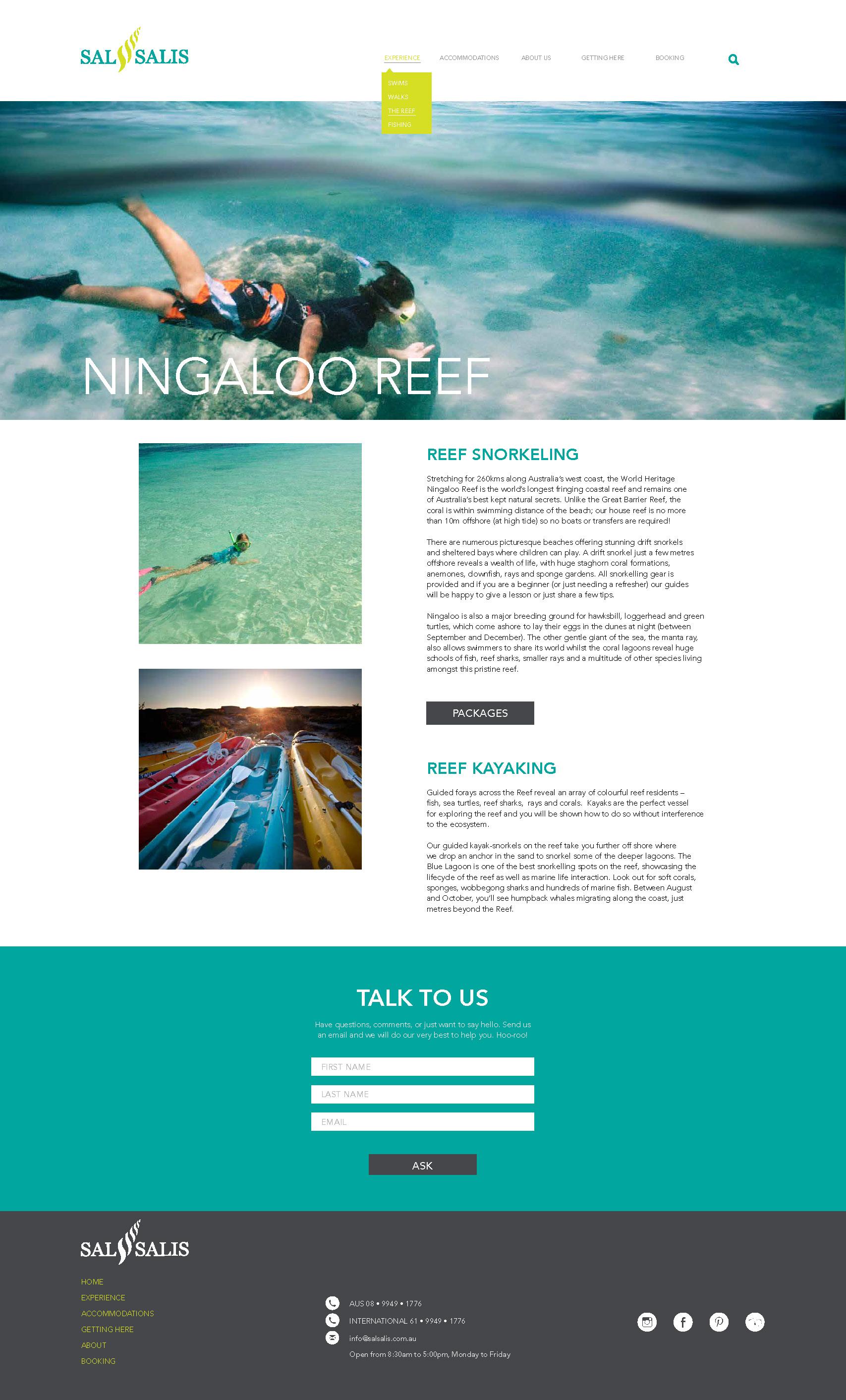Sal Salis Reef Page