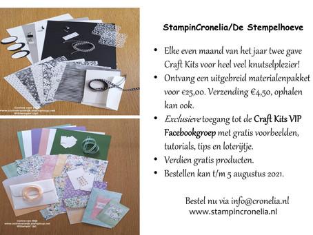 NIEUW! De twee-maandelijkse Craft Kits van StampinCronelia