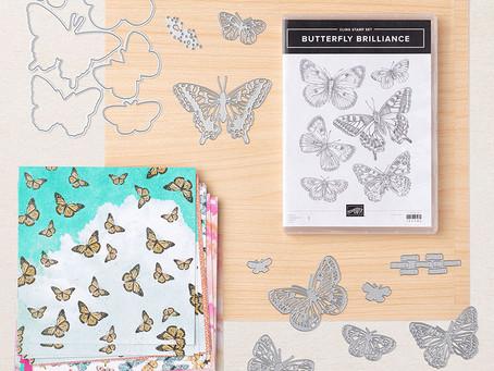 """Het Workshop At Home-Pakket van februari 2021 """"Butterfly Bouquet""""."""
