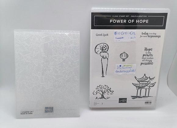 Power Of Hope - stempelset + embossingfolder