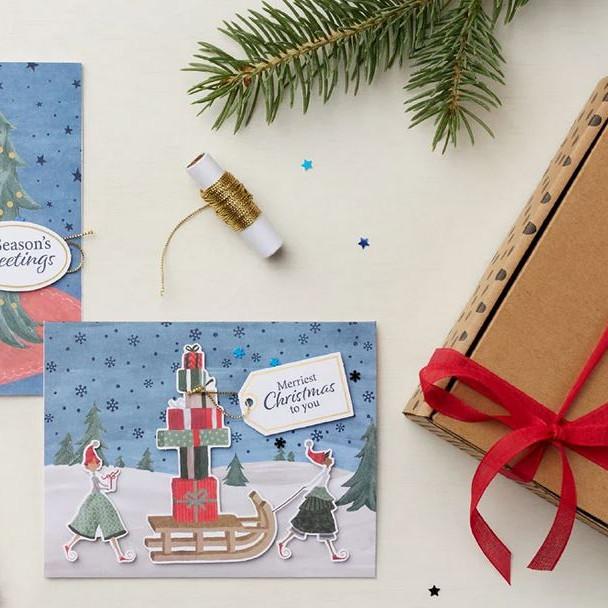 Christmas Whimsy-kit kerstkaartenworkshop
