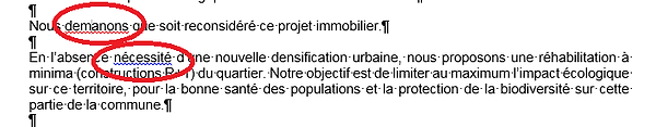 correction professionnelle document Word