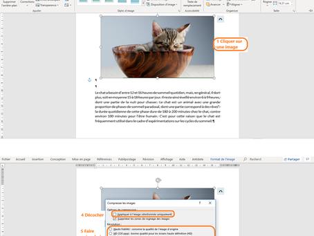 Mon tutoriel pour compresser des images dans Word