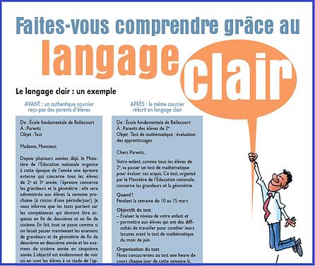 La fiche aide-mémoire du langage clair