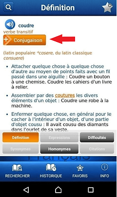 Application Larousse pour Android