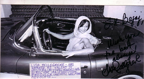 Signed picture/Lisa Pellegrene Photo Shoot (75% profits donated, animal welfare)