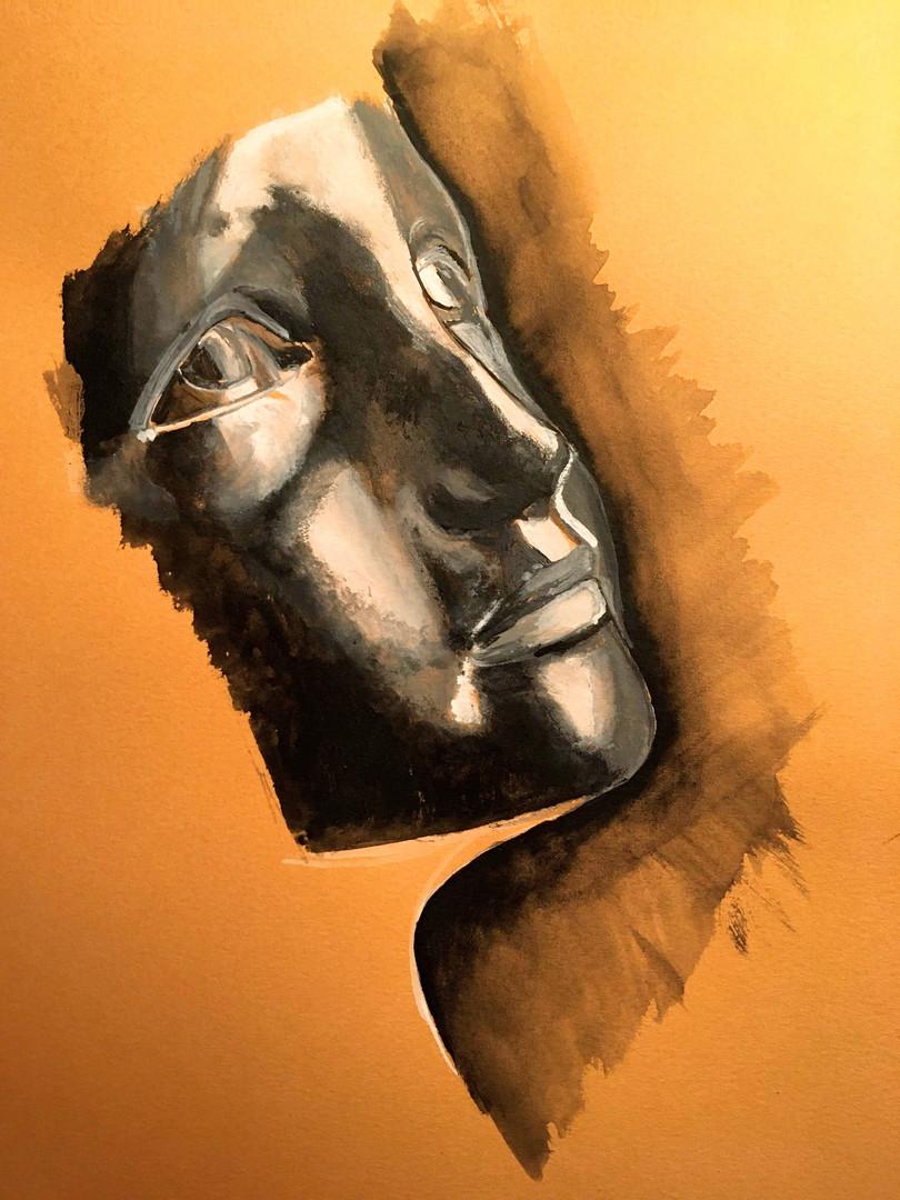 """Masque, inspiration d'après """"la petite châtelaine ou la jeune enfant"""" de Camille Claudel VENDUE"""