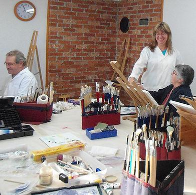 Cours de peinture Chantal auger