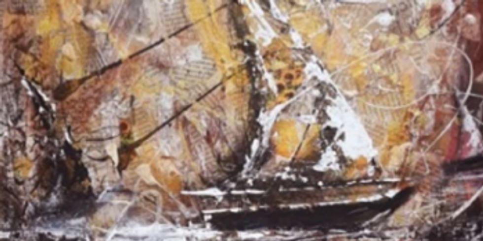 """Atelier """"Découverte d'une journée"""" – Techniques mixtes : Le voilier"""